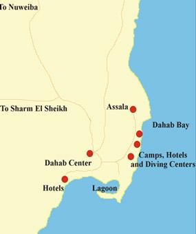 Taba Egypt - Map of egypt dahab